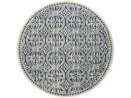 safavieh cambridge round navy blue ivory area rug