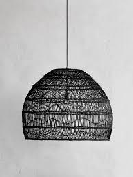 wicker pendant light. Wicker Pendant Black Large - HK Living Light O