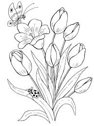 Small Picture Tulip coloring pages Download and print Tulip coloring pages
