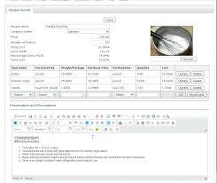 Recipe Cost Calculator Excel Recipe Cost Calculator For Excel Recipe