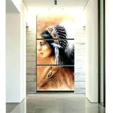 native american wall art native wall art inspirations of matching wood geometric design headdress metal decor