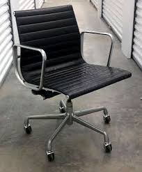 eames chair vintage for sale. six vintage eames aluminum group leather \ chair for sale r