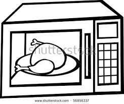 microwave clipart. microwave oven with chicken or turkey inside clipart t