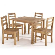 maiden 5 piece solid wood dining set with 1 table and 4 chairs in nature