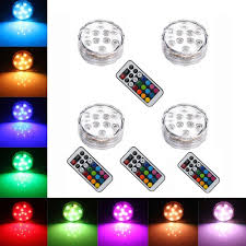 Capstone Lighting Remote Change Battery 4pcs Remote Controlled Rgb Submersible Led Lights Aaa Battery Operated Led Decorative Lights For Lighting Up Vase Bowl Fish Tank Wedding