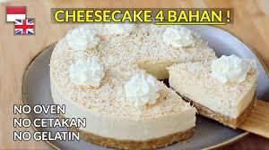 Kukus adonan bolu di atas api sedang resep baked cheese cake. Bisa Tanpa Mixer Resep Cheesecake 4 Bahan Ter Legit Anak Kos Masuk Youtube