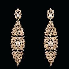 big gold chandelier earrings gulicx women punk large long rose long chandelier earrings