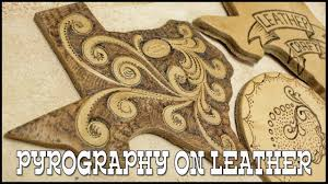 leather burning tutorial for beginners leathercraft tutorial pyrography leather burning tool
