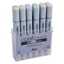 Copic Sketch Marker Set 12 Color Set <b>Ex4</b> – Creative Hands