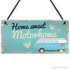 gifts for women motorhome wall plaque caravan cervan door sign friendship gift for her him living room interior designs living room wall decor from