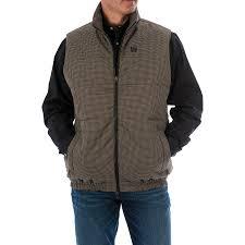 Cinch Jacket Size Chart Cinch Mens Houndstooth Puffer Vest