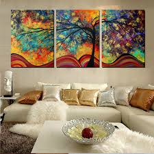 wall art paintings for living roomLarge Wall Art Home Decor Abstract Tree Painting Colorful
