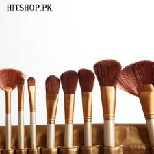 24 pieces brush set with leather pouch