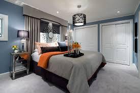 Blue Grey Bedrooms Jane Lockhart Bluegrayorange Bedroom Contemporary Bedroom  Brown Bedroom Ideas