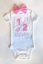 Amazoncom 12 Birthday Bodysuit Half Birthday Girls Bodysuit