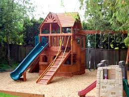 Image of: Original backyard playset plans