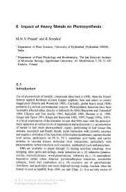 thesis photosynthesis impact of heavy metals on photosynthesis springer inside