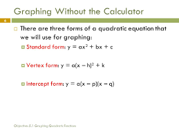 graphing quadratic functions 5 oooooh 6 objective