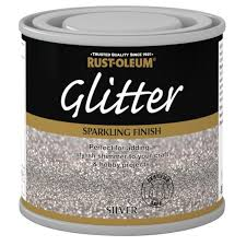 rust oleum glitter silver paint 125ml