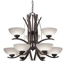 9 light bronze chandelier pertaining to and idea allen roth 4 string lights patio with regard eberline a73