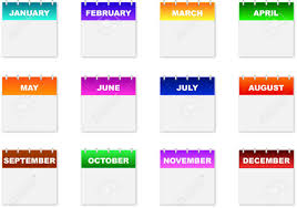 mothly calendar monthly calendar icons on a white background royalty free cliparts