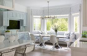 kitchen window seat with table. Brilliant Table Blue Dining Nook And Kitchen Window Seat With Table