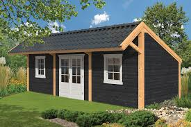modular garden office. various modules added to the basic larch barn can make a stunning garden office modular