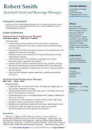 Medical Office Billing Manager Job Description Assistant Food And Beverage Manager Resume Samples Qwikresume