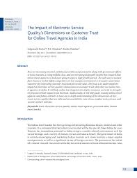 Zed Fare Chart 2017 Pdf The Impact Of Electronic Service Qualitys Dimensions