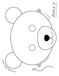 pudsey bear face colouring pages free printable teddy r coloring sheets sleeping page hibernating animals pages