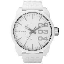 diesel dz1461 men s oversized white dial resin bracelet watch diesel dz1461 men s oversized white dial resin bracelet watch