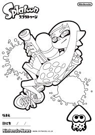 Coloring Page Sonic Kleurplaat Nieuwste Splatoon Inkling Colorings