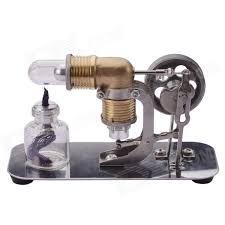 neje mini hot air stirling engine motor model toy antique copper
