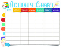 Activity Chart Kids Kids Activity Chart Sample Image Fun For Little Ones Fun