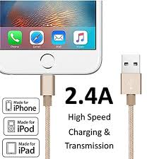 heavy duty lightning sync data cable gold mfi certified usb heavy duty lightning sync data cable gold mfi certified usb charger for iphone ipad ipod fast charging reliable strong amazon co uk electronics