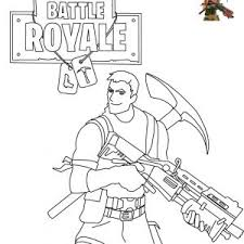 Scar Coloring Page New Print Fortnite Battle Royale Coloring Pages