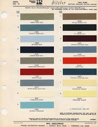 1965 Pontiac Color Chart 1965 Ford Mustang Color Chart With Paint Mixing Codes