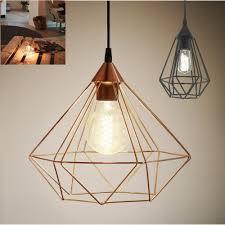 details about geometric ceiling light pendant light copper black cage vintage lights retro