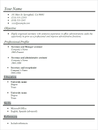 Resume Template Format Simple Resume Template Free Samples Examples