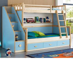 simple design Sleeping bedroom double deck bed for kids