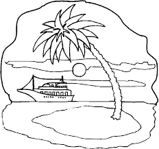 Small Picture with Island Coloring Pages Print Coloring pages