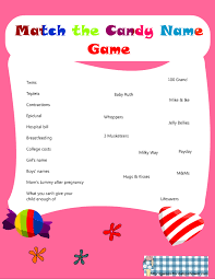 Outstanding Candy Name Game For Baby Shower 89 On Ideas For Baby Shower Games For Baby