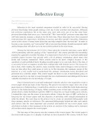 Reflection Paper Format Pdf Examples Of Reflective Essays Write