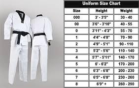Karate Uniform Size Chart Taekwondo Gi Taekwondo Uniform Taekwondo Apparel For Adults Children Durable Fabric Made For Training And Combat Buy Taekwondo
