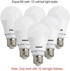 60 Watt 12 Volt Light Bulb Ashialight Led 12 Volt Light Bulbs Equal 60 Watt 12 Volt Incandescent Bulb E26 Screw In Base Soft White 3000k 12 Volt Bulbs For Rv Camper