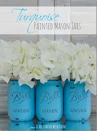 turquoise painted mason jars 4 2