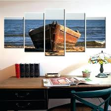 wooden boat decor wooden boat decor 5 panel wooden boat canvas painting sea landscape home decor wooden boat decor