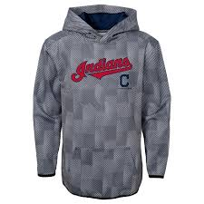 Poly Mlb First Gray Pitch Indians Hoodie Boys' Cleveland