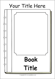 book front cover template