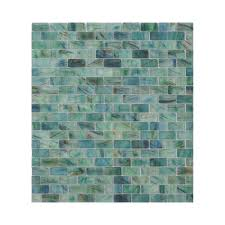 american olean visionaire peaceful sea glass mosaic subway indoor outdoor wall tile common